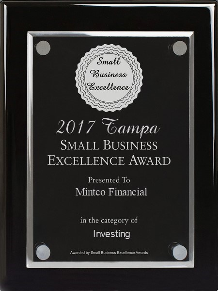 Mintco Financial selected for 2017 Tampa Small Business Excellence Award